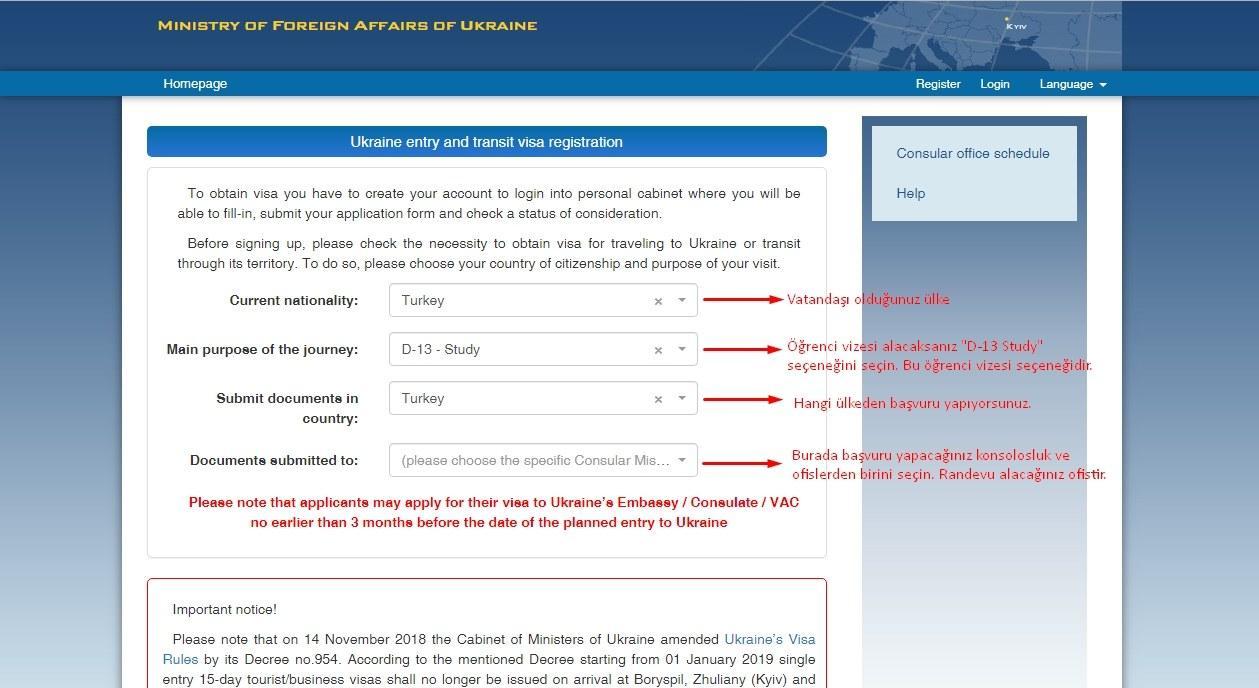 Ukrayna Öğrenci Vizesi Nasıl Alınır? 4 – Ukrayna Öğrenci Vizesi 1 aşama
